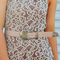 City Streets Belt: Blush/Silver