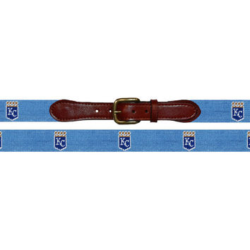 Kansas City Royals Needlepoint Belt | Smathers & Branson