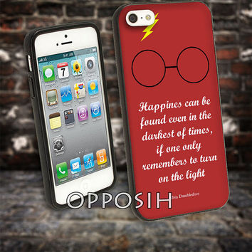 Happiness Quote Harry Potter cover case for iPhone 4 4S 5 5C 5 5S 6 Plus Samsung Galaxy s3 s4 s5 Note 3 by opposih