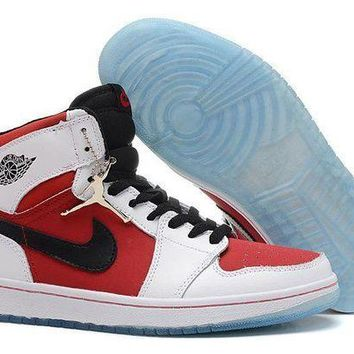 PEAPVX Jacklish Air Jordan 1 (i) Retro High Og White/black-carmine Cheap Sale