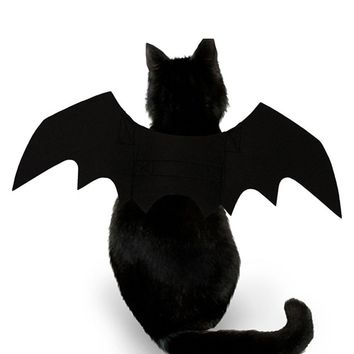 Black Cat Costume Creative Bat Wings Halloween Suppiles Cute Outfit Wings Pet Dress Wing Animal