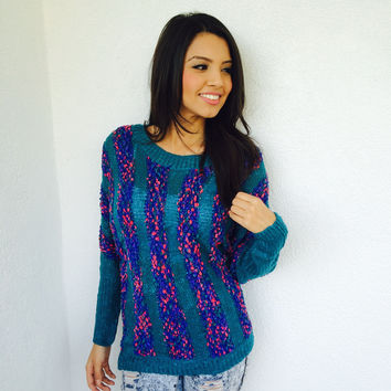 Vina Teal Sweater