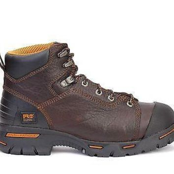 "Timberland Pro Mens 6"" Endurance Steel Toe Boots Briar Brown 52562"