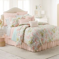 LC Lauren Conrad Tea Berry Reversible Duvet Cover Set