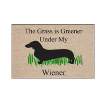 Greener Under My Wiener Dachshund Doormat