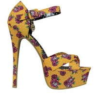 Iron Fist Scary Yellow Prairie Platform Heels - Buy Online at Grindstore.com