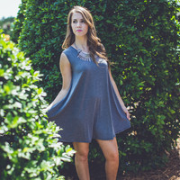 Casual Shift Dress in Grey