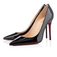 decollete 554 100mm black patent leather