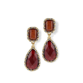 Amber + Ruby Statement Earrings