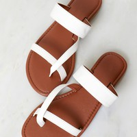 Walk In My Sandals White