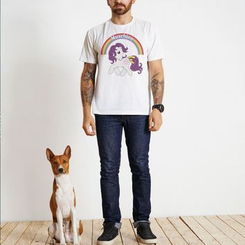 Men's Fashion Unicorn Cotton Short Sleeve Strong Character Fashion T-shirts [441386270749]