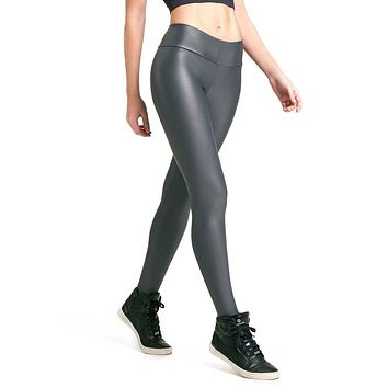 GRAY LIQUID SCRUNCH LEGGINGS