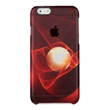 Lead Me Into Temptation, Abstract Red Fractal Art Clear iPhone 6/6S Case