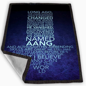 Avatar Arrow Quotes Blanket for Kids Blanket, Fleece Blanket Cute and Awesome Blanket for your bedding, Blanket fleece **