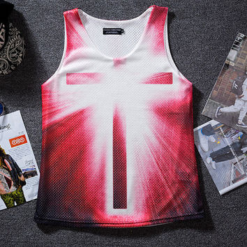 Breathable mesh loose vest basketball clothes
