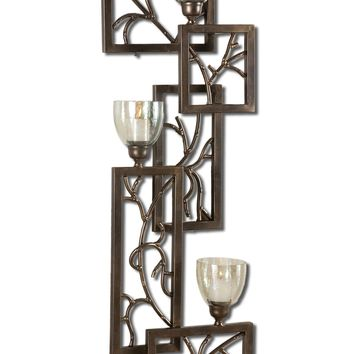 Iron Branches Candle Wall Sconce by Uttermost