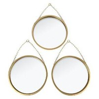 Round Mirror Set of 3 Brass - Threshold™ : Target