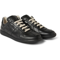 Maison Martin Margiela - Panelled Leather Sneakers | MR PORTER