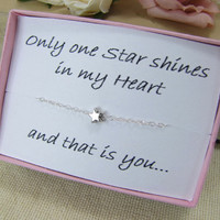 Star Necklace Girlfriend Wife Daughter Wish Upon A by CuteAbility