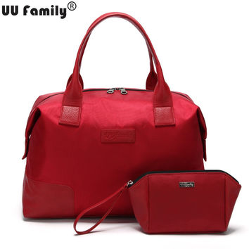 UU Family Oxford Autumn Travel Bag Weekend Bag Large Capacity Overnight Bag Men Waterproof Bag Women Duffel Travel Tote