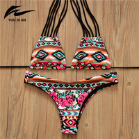 New Halter Top Sexy Bikini set Women Swimsuit Brazilian Bikini 2016 Push Up Swimwear Bathing Suit Fashion Biquini Bikinis Women