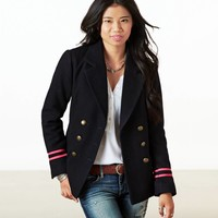 AEO Women's Navy Pea Coat (Navy)