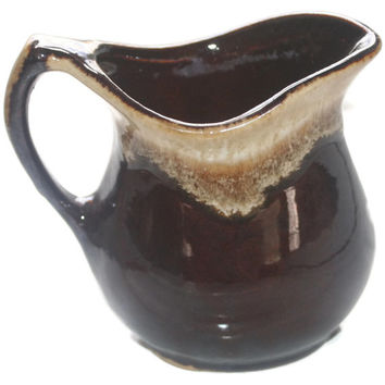 Vintage Brown Drip Glaze Roseville Pottery Creamer Pitcher