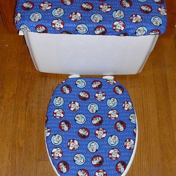 OBAMA TOILET SEAT AND TANK LID COVER SEAT