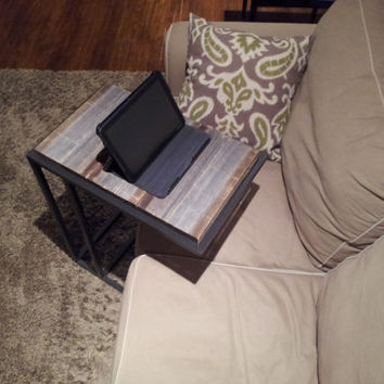 Old barn Wood Laptop/Tablet Side Table