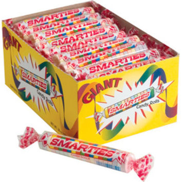 Giant Smarties Candy Rolls: 36-Piece Box