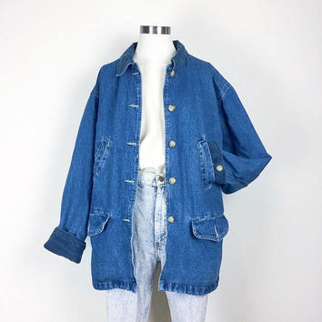 vintage denim jacket/ chore jacket/ big ben jacket/ unisex denim/ women's size S/M