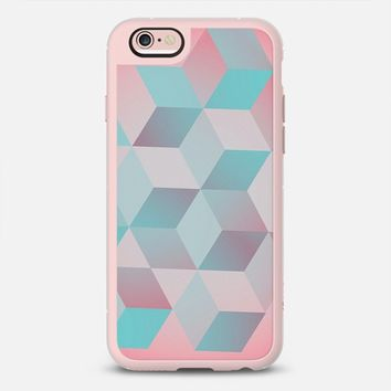 Baby pink & blue cubes iPhone 6s Plus case by DuckyB | Casetify