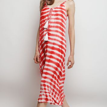 Firecracker Tie Dye Wave Midi Dress