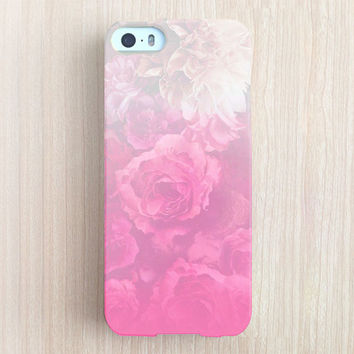 iPhone 6 Case, iPhone 6 Plus Case, iPhone 5S Case, iPhone 5 Case, iPhone 5C Case, iPhone 4S Case, iPhone 4 Case - Sweet Rose Ombre