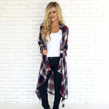 Southern Girl Plaid Cardigan