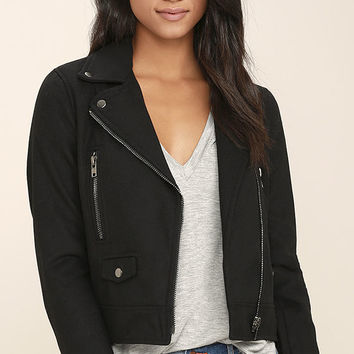 You're in Luck Black Moto Jacket