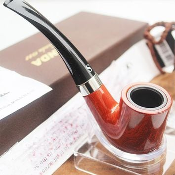 Red Texture Pipes Chimney Smoking Pipe Mouthpiece Herb Tobacco Pipe Cigar Narguile Weed Grinder Smoke Accessories