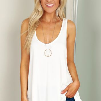 Casual Tank Top White