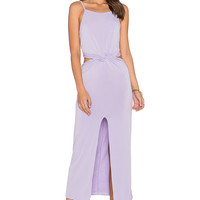 GLAMOROUS Slit Front Midi Dress in Lilac