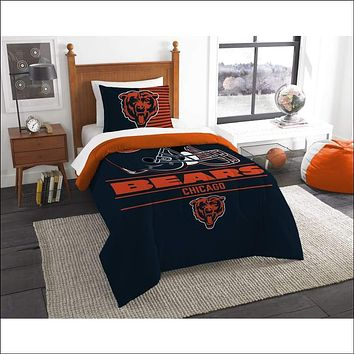 """Bears OFFICIAL National Football League, Bedding, """"""""Draft"""""""" Printed Twin Comforter (64""""""""x 86"""""""") & 1 Sham (24""""""""x 30"""""""") Set  by The Northwest Company"""