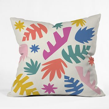 Zoe Wodarz Cut Paper Garden Throw Pillow