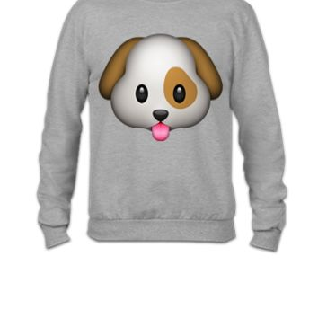 emojie dog - Crewneck Sweatshirt