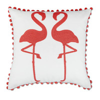 Elise & James Home™ Flamingos with Poms Decorative Pillow