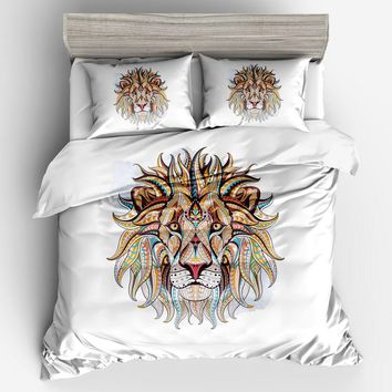 Tiger Bedding Set 3D Modern White Bedding Sets Double king Hotel Bohemian Bedding Cheap bed Duvet Cover Pillowcase Home Textiles
