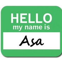Asa Hello My Name Is Mouse Pad