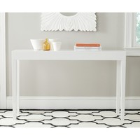 Safavieh Kayson White Lacquer Console Table | Overstock.com Shopping - The Best Deals on Coffee, Sofa & End Tables