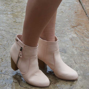 Walk On By Booties - Blush