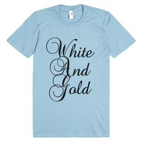 White And Gold Colorblind T Shirt-Unisex Light Blue T-Shirt