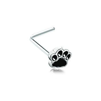 Animal Lover Paw Print WildKlass WildKlass L-Shape Nose Ring