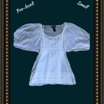 Guess babydoll top beautiful  size small